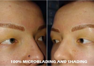 100% eyebrow mircoblading and shading by Tayler Hager