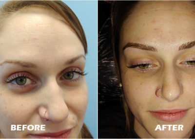 eyebrow mircoblading before and after by Tayler Hager