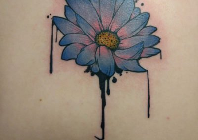 image of a flower tattoo done by Mike Welch of Skin Deep