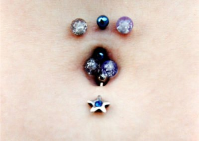 image of belly button done by Monte Vogel at Skin Deep