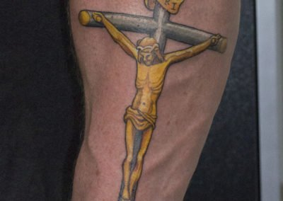 image of Christ tattoo done by Shawn Pierce of Skin Deep